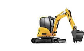 Mini and compact excavators