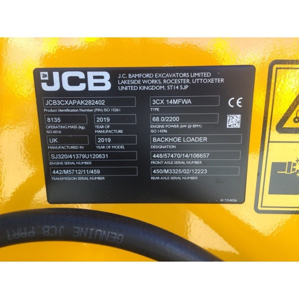 Backhoe Loader JCB 3CX ECO Sitemaster - 2019 - 5h